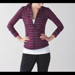 lululemon athletica Jackets & Coats - Lululemon Regal Plum Cyber Stripe Define Jacket